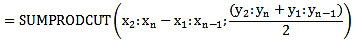 Numerical Integration In Excel SUMPRODUCT Function