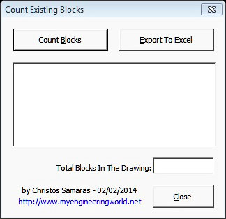 Counting Existing Blocks In AutoCAD VBA Add In