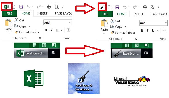 Changing Excel Icon Creating Workbook Shortcut With A Custom Icon