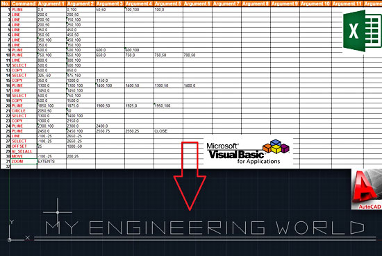 Send AutoCAD Commands From Excel & VBA – My Engineering World