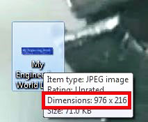 Get Image Size By Hovering