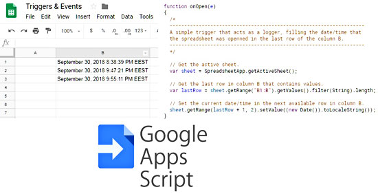 Triggers Events In Google Sheets My Engineering World